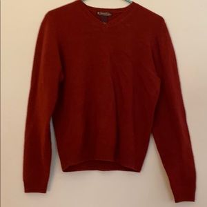 Brooks Brothers Brick Red Lambswool Sweater Size L